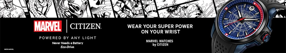 Wear Your Super Power on Your Wrist, Marvel Watches by Citizen