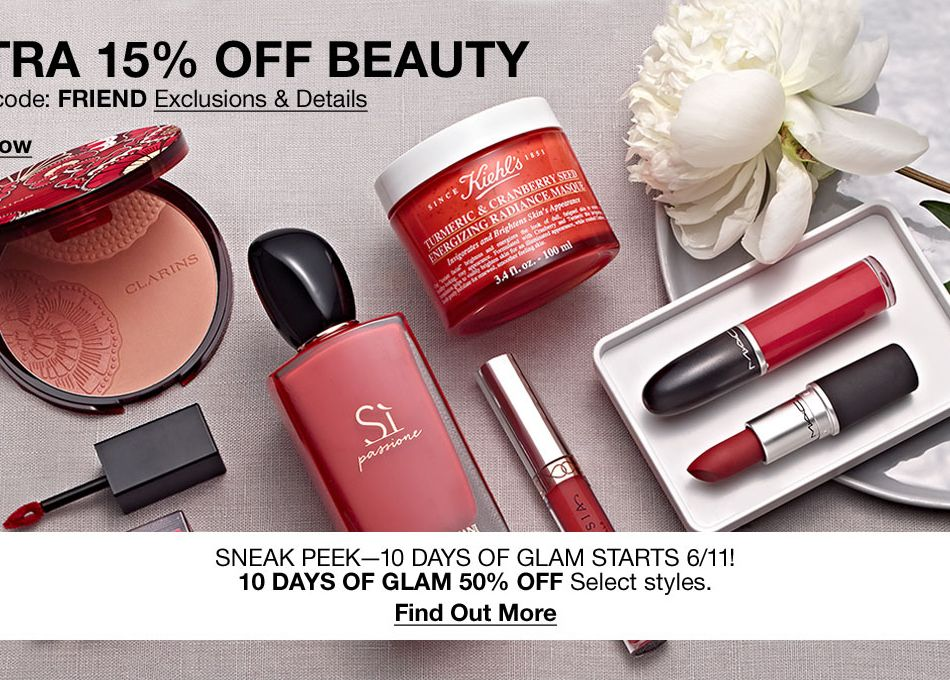 214b2b2cc1d2 Extra 15 percent Off Beauty, Promo code: FRIEND Exclusions and Details, Shop  Now