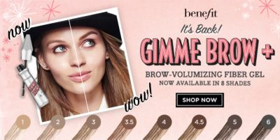 Benefit it's Back! Gimme Brow + Brow-Volumizing Fiber Gel, Shop Now