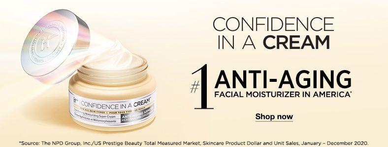 Confidence In a Cream, #1 Anti-Aging Facial Moisturizer In America
