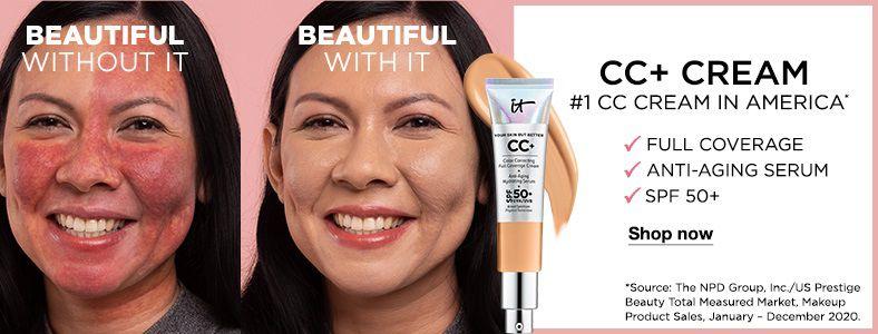 CC+ Cream, #1 CC Cream In America, Full Coverage, Anti-Aging Serum, SPF 50+