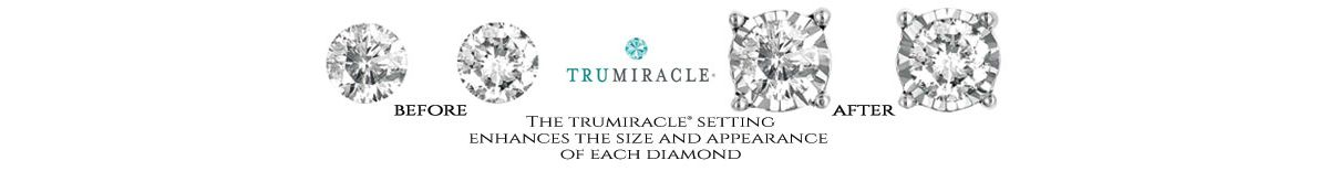 Trumiracle, Before, After, The Trumiracle Setting Enhances The Size and Appearance of Each Diamond