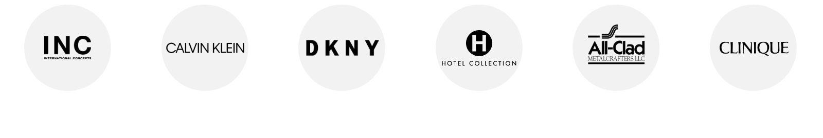 INC, Calvin Klein, D K N Y, Hotel Collection, All-Clad, Clinique