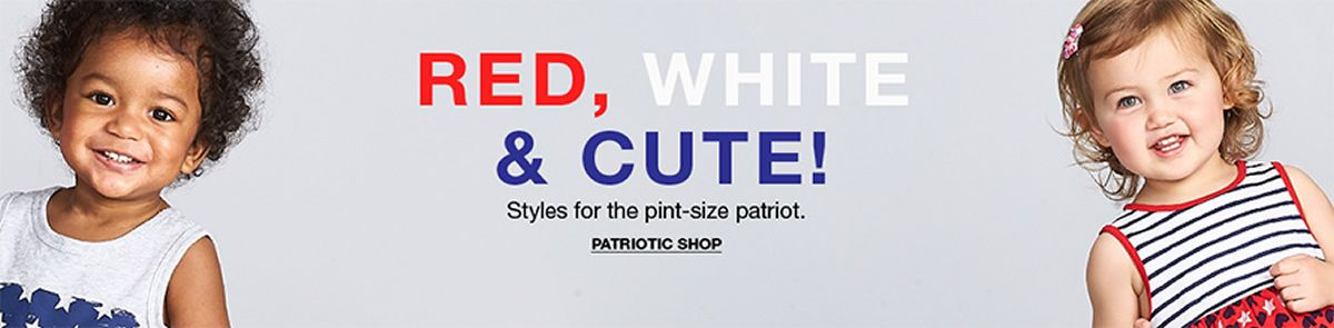 Red, White and Cute! Styles for the pint-size patriot, Patriotic Shop