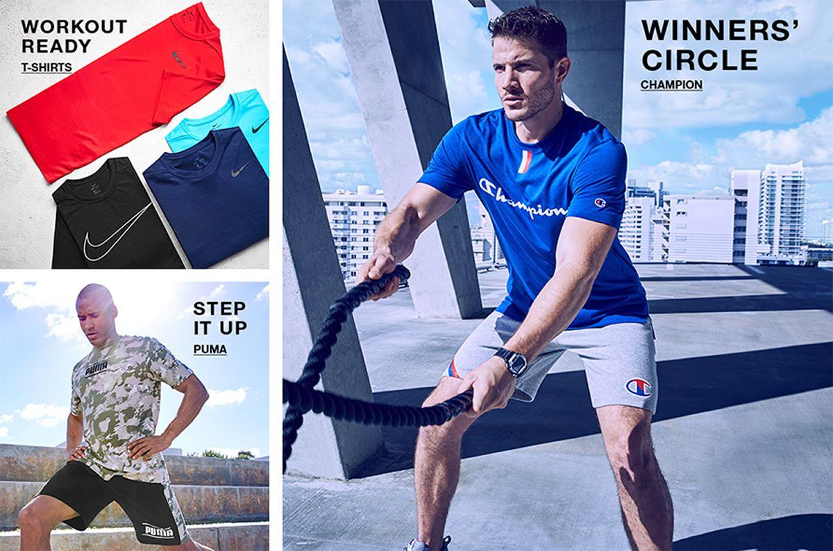 Workout Ready, T-shirts, Step it up, Puma, Winners' Circle, Champion