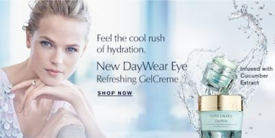 Feel the cool rush of hydration, New Day Wear Eye Refreshing Gelcreme, Shop Now