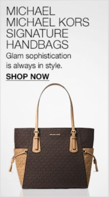 Michael, Michael Kors Signature Handbags, Glam sophistication is always in style, Shop Now