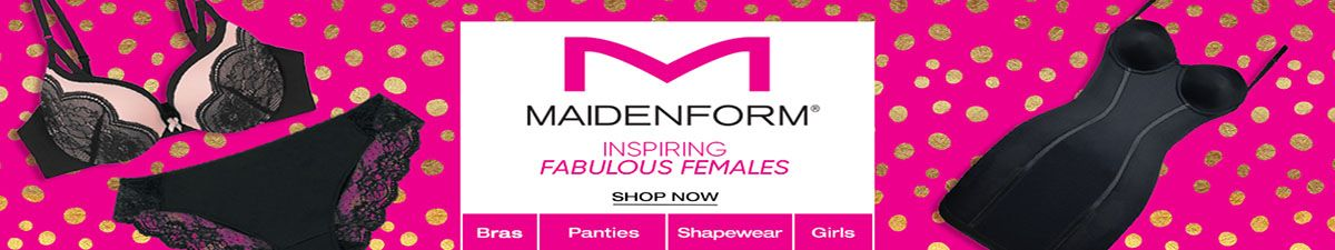 Maidenform, Inspiring Fabulous Females, Shop Now, Bras, Panties, Shapewear, Girls