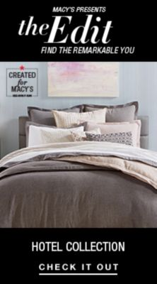 Macy's Presents, The Edit Find the Remarkable You, Hotel Collection, Check it Out