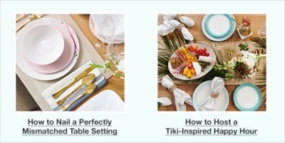 How to Nail a Perfectly Mismatched Table Setting, How to Host a Tiki-Inspired Happy Hour