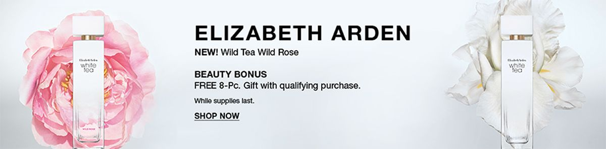 Elizabeth Arden, New! Wild Tea Wild Rose, Beauty Bonus, Shop Now