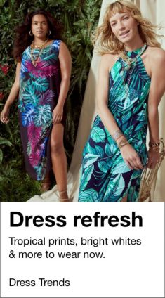 Dress refresh, Tropical prints, bright whites and more to wear now, Dress Trends