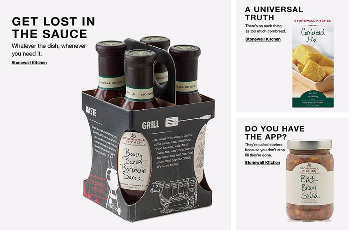 Get Lost in The Sauce, Stonewall Kitchen, a U niversal Thuth, Stonewall Kitchen, do You Have The App? Stonewall Kitchen,