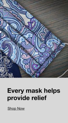Every mask helps provide relief