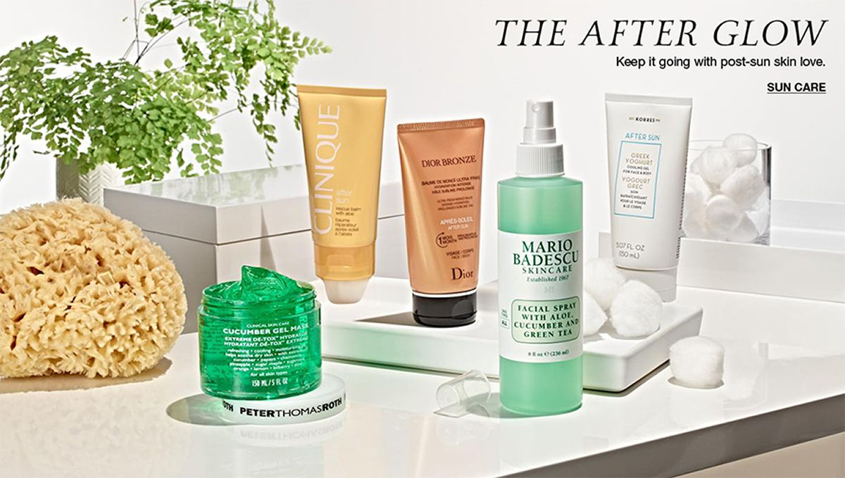 The After Glow, Keep it going with post-sun skin love, Sun Care