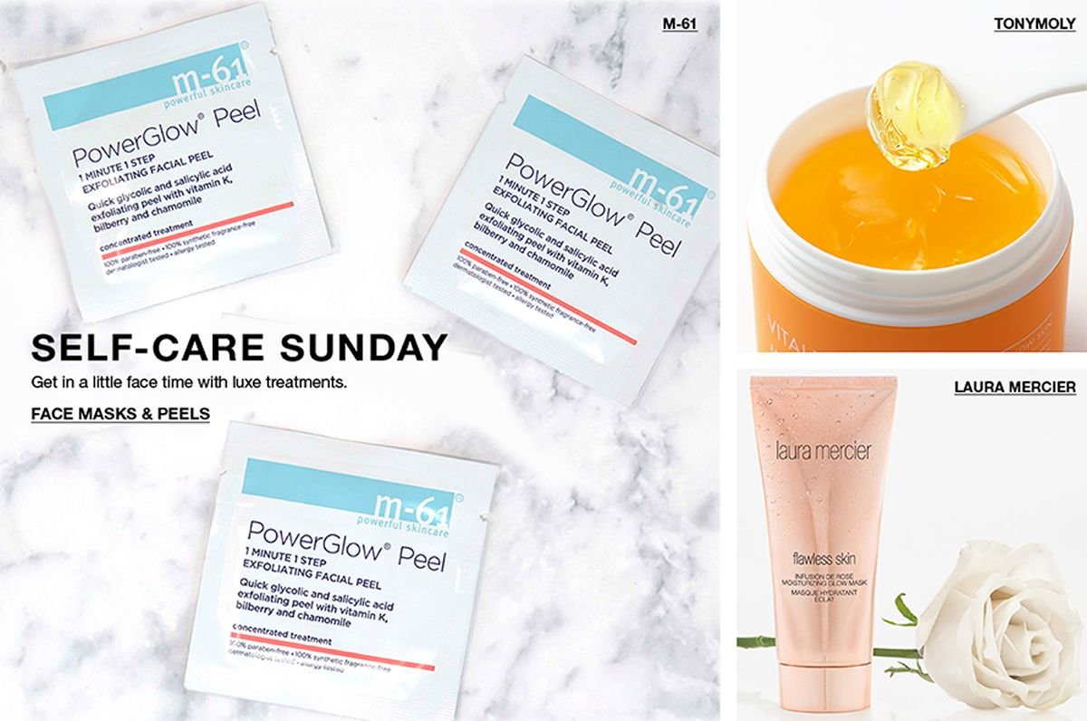 M-61, Self-Care Sunday, Get in a little face time with luxe treatments, Face Masks and Peels, Tonymoly, Laura Mercier