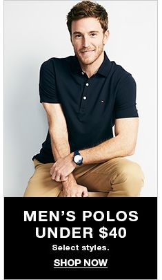 Men's Polos Under $40, Select styles, Shop Now