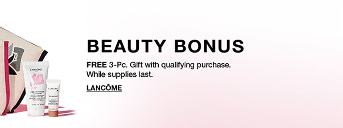 Beauty Bounce, Free 3-Pieces, Gift with qualifying purchase, while supplies last, Lancom