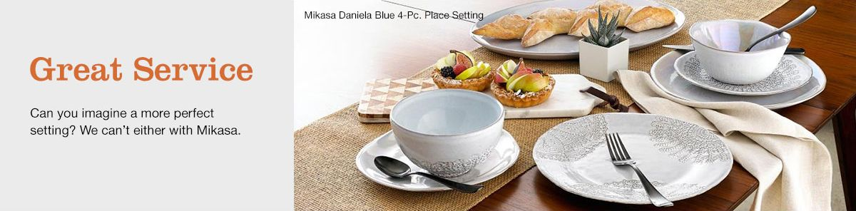 Great Service, Can you imagine a more perfect setting? We can't either with Mikasa, Mikasa Daniela Blue 4-Piece, Place Setting