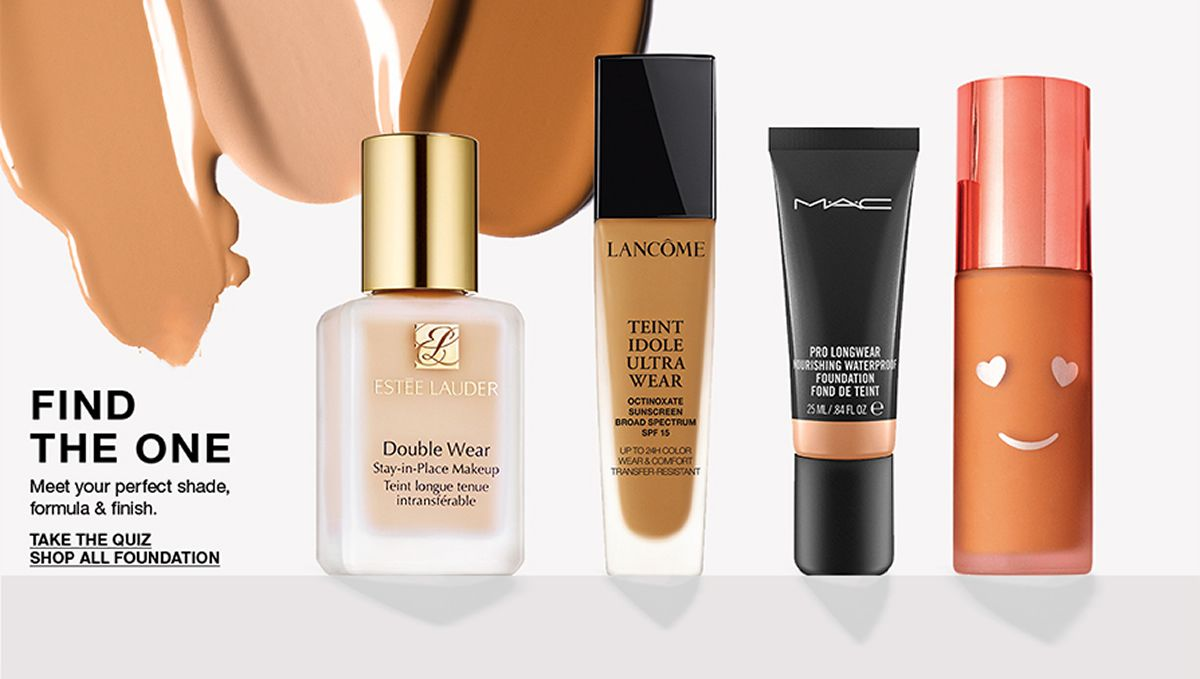 Find The One, Meet your perfect shade, formula and finish, Take The Quiz Shop All Foundation