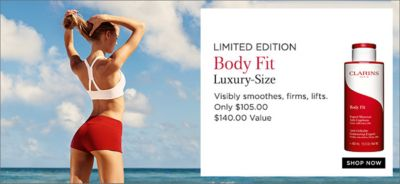 Limited Edition Body Fit Luxury-Size, Visibly smoothes, firms, lifts, Only $105.00 $140.00 Value, Shop Now