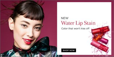 New Water Lip Stain, Color that won't kiss off, Shop Now
