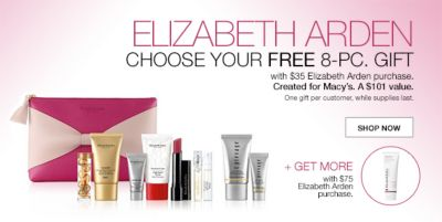 Elizabeth Arden, Choose Your Free 8-Piece, Gift with $35 Elizabeth Arden purchase, Created for Macy's A $101 value, Shop Now