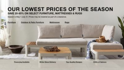 Merveilleux Our Lowest Prices Of The Season, Save 20 65 Percent, On Select Furniture