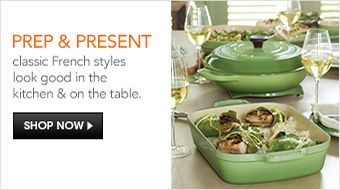 Prep and Present, classic French style look good in the kitchen and on the table, Shop Now