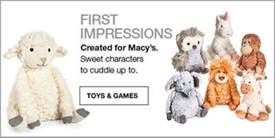 First Impressions, Created for Macy's, Sweet characters to cuddle up to, Toys and Games