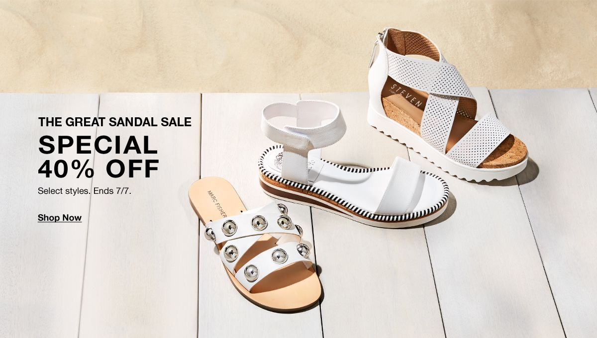 c4786b708188 The Great Sandal Sale, Special 40 percent off, Select styles, Ends 7/. Lingerie  Sale ...