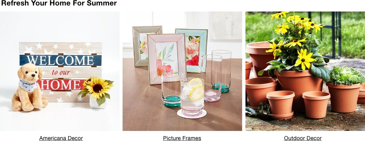 Refresh Your Home For Summer, Americana Décor, Picture Frames, Outdoor Decor