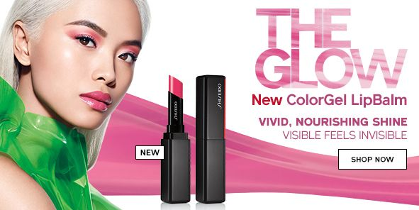 New, The Glow, New Colorgel Lipbalm, Vivid, Nourishing Shine Visible Feels Invisible, Shop Now