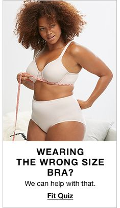 Wearing The Wrong Size Bra? We can help with that, Fit Quiz