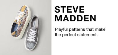 f61ddf016b2 Steve Madden, Playful patterns that make the perfect statement