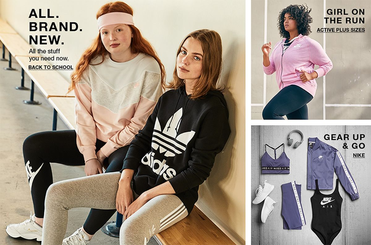 All, Brands, New, All the stuff you need now, Back to School, Girl on the Run, Active plus Sizes, Gear up and go, Nike