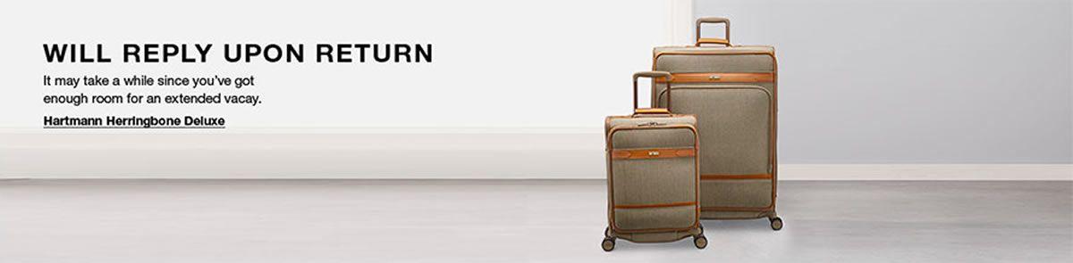 Will Reply Upon Return, Hartmann Herringbone Deluxe