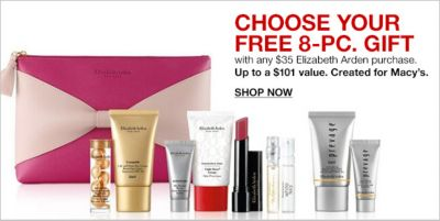 Choose Your Free 8-Piece, Gift with any $35 Elizabeth Arden purchase, Up to a $101 value, Created for Macy's, Shop Now