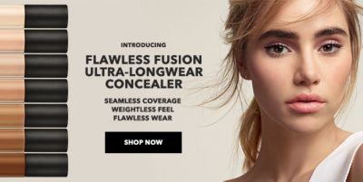 Introducing, Flawless Fusion, Ultra-Longwear Concealer, Seamless Coverage Weightless Feel Flawless Wear, Shop Now