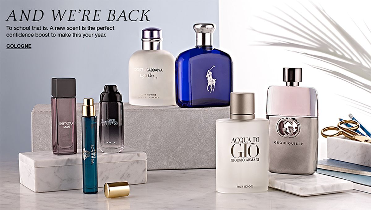 And We're Back, To school that is, A new scent is the perfect confidence boost to make this your year, Cologne