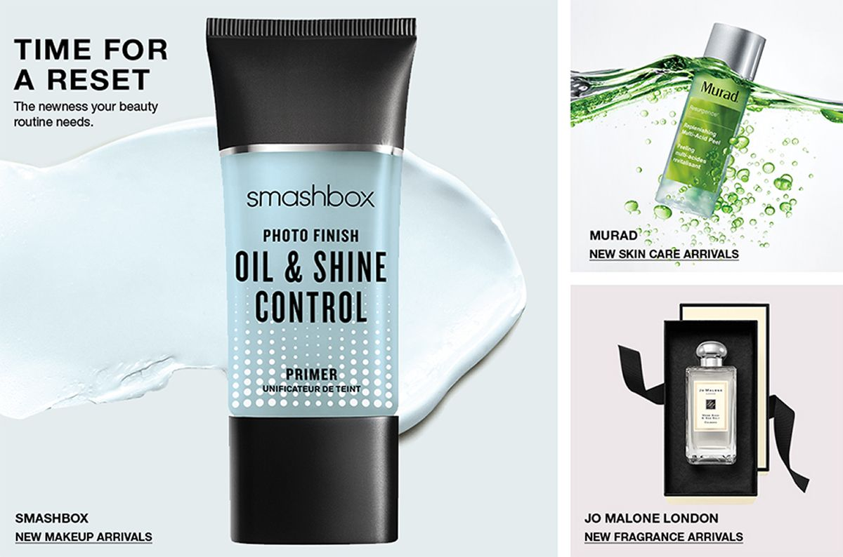 Time For a Reset, The newness your beauty routine needs, Smashbox, New Makeup Arrivals, Murad, New Skin Care Arrivals, Jo Malone London, New Fragrance Arrivals