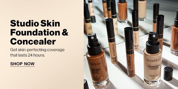 Studio Skin Foundation and Concealer, Get skin-perfecting coverage that lasts 24 hours, Shop Now