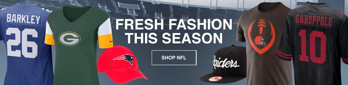 Fresh Fashion, This Season, Shop NFL