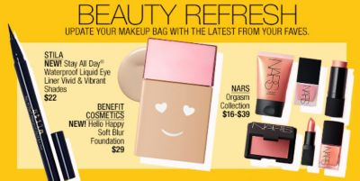 Beauty Refresh, Update Your Makeup Bag with the Latest From Your Faves, Stila, Benefit Cosmetics, Nars