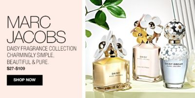 Marc Jacobs, Daisy Fragrance Collection, Charmingly simple, beautiful and pure, $27-$109, Shop Now