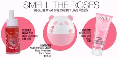 Smell The Roses, Because What Girl Doesn't Love Roses? Korres, Tonymoly, Lancome