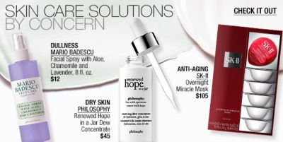 Skin Care Solutions by Concern, Dullness Mario Badescu, Dry Skin Philosophy, Anti-Aging, SK-II, Check it Out