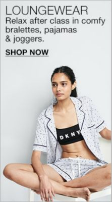 Loungewear, Relax after class in comfy bralettes, pajamas and joggers, Shop Now