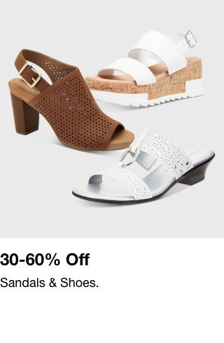 30-60% off, Sandals and Shoes