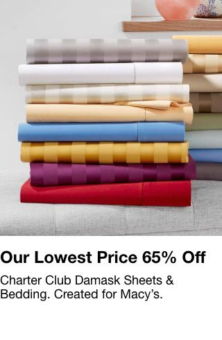 Our Lowest Price 65% off, Charter Club Damask Sheets and Bedding, Created for Macy's